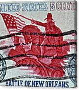 1965 Battle Of New Orleans Stamp Canvas Print
