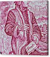 1965 Dante Anniversary Stamp Canvas Print