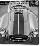 1965 Ford Ac Cobra Replica Painted Bw Canvas Print