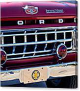 1965 Ford American Lafrance Fire Truck Canvas Print