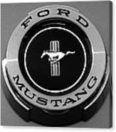 1965 Ford Mustang Emblem Canvas Print
