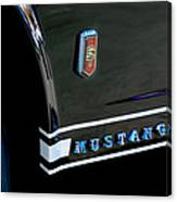 1965 Ford Mustang Gt Convertible Emblem Canvas Print