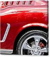 1965 Ford Mustang Really Red Canvas Print