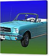 1965 Mustang Convertible Canvas Print