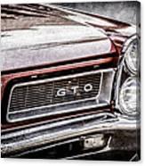 1965 Pontiac Gto Grille Emblem -0442ac Canvas Print