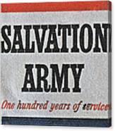 1965 Salvation Army Stamp Canvas Print