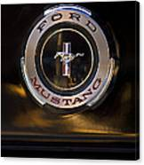 1965 Shelby Prototype Ford Mustang Emblem 2 Canvas Print