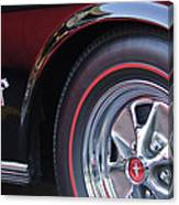1965 Shelby Prototype Ford Mustang Wheel And Emblem Canvas Print
