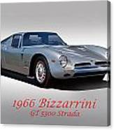 1966 Bizzarrini Gt 5300 Strada Canvas Print