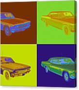 1966 Chevrolet Caprice 427 Muscle Car Pop Art Canvas Print
