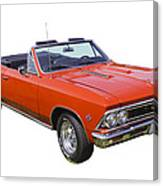 1966 Chevrolet Chevelle Convertible 283  Canvas Print