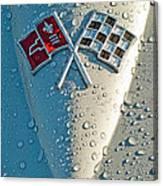 1966 Chevrolet Corvette Sting Ray Hood Emblem Canvas Print