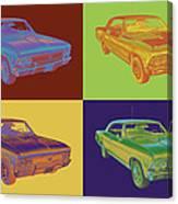 1966 Chevy Chevelle Ss 396 Car Pop Art Canvas Print