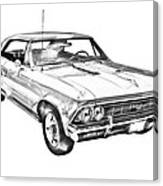 1966 Chevy Chevelle Ss 396 Illustration Canvas Print