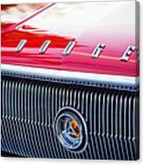 1966 Dodge Charger Grille Emblem Canvas Print