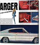 1966 Dodge Charger - New Leader Of The Dodge Rebellion Canvas Print