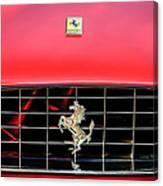 1966 Ferrari 330 Gtc Coupe Hood Emblem -0391c Canvas Print