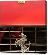 1966 Ferrari 330 Gtc Coupe Hood Ornament Canvas Print