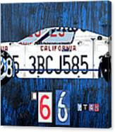 1966 Ford Gt40 License Plate Art By Design Turnpike Canvas Print