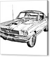 1966 ford mustang fastback illustration photograph by keith webber jr 1977 Mustang Ghia 1966 ford mustang fastback illustration canvas print