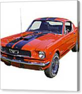 1966 Ford Mustang Fastback Canvas Print