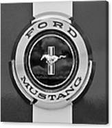 1966 Ford Mustang Shelby Gt 350 Emblem Gas Cap -0295bw Canvas Print
