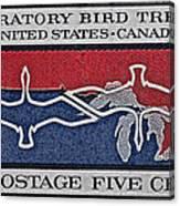 1966 Migratory Bird Treaty Stamp Canvas Print