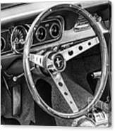 1966 Mustang Dashboard Bw Canvas Print