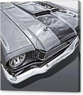 1966 Mustang Hood And Headlight Canvas Print