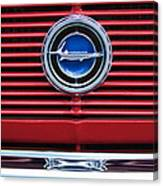 1966 Plymouth Barracuda - Cuda Grille Emblem Canvas Print