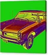1966 Pointiac Lemans Car Pop Art Canvas Print