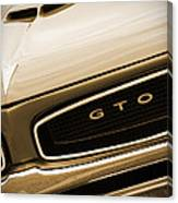 1966 Pontiac Gto In Sepia Canvas Print