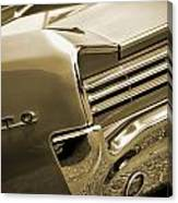 1966 Pontiac Gto Tail In Sepia Canvas Print