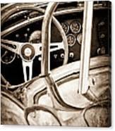 1966 Shelby 427 Cobra Steering Wheel Emblem Canvas Print