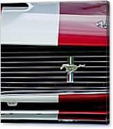1966 Shelby Cobra Gt 350 Grille Emblem Canvas Print