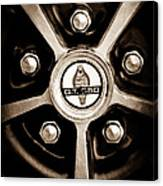 1966 Shelby Cobra Gt350 Wheel Rim Emblem Canvas Print