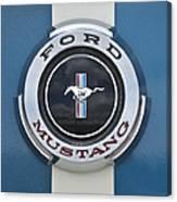 1966 Shelby Gt 350 Emblem Gas Cap Canvas Print