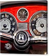 1966 Volkswagen Vw Karmann Ghia Steering Wheel Canvas Print