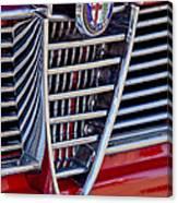 1967 Alfa Romeo Giulia Super Grille Emblem Canvas Print