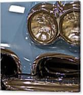 1967 Blue Corvette-front Left Canvas Print