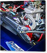 1967 Chevrolet Camaro Ss 350 Engine - Hood Emblem  Canvas Print