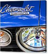 1967 Chevrolet Camaro Ss 350 Headlight - Hood Emblem  Canvas Print
