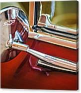 1967 Chevrolet Camaro Ss 350 Rear View Mirror Emblem Canvas Print