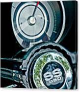 1967 Chevrolet Camaro  Ss Steering Wheel Emblem Emblem Canvas Print