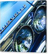 1967 Chevrolet Chevelle Malibu Head Light Emblem Canvas Print