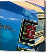 1967 Chevrolet Malibu Taillight Emblem Canvas Print