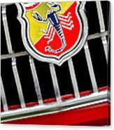 1967 Fiat Abarth 1000 Otr Emblem Canvas Print