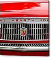 1967 Fiat Abarth 1000 Otr Grille Canvas Print