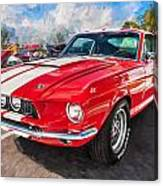 1967 Ford Shelby Mustang Gt500 Painted  Canvas Print