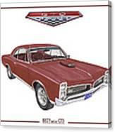 1967 G T O Pontiac Canvas Print